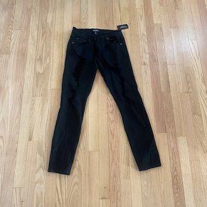 Forever 21 black distressed skinny jeans
